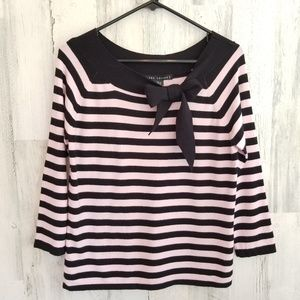 Larry Levine Striped Pink Top